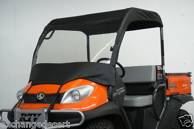 TOP & Vinyl WINDSHIELD ~ Kubota RTV900 & RTV1120 ~ New ~ UTV Enclosure ~ 2 Color