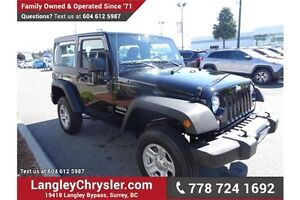 2016 Jeep Wrangler Sport w/ 2DOOR &  MANUAL TRANSMISSION