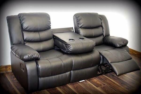 BRANDNEW Romina 3 + 2 Seater Leather Recliner Sofa set with Cup Holder & BRANDNEW Romina 3 + 2 Seater Leather Recliner Sofa set with Cup ... islam-shia.org