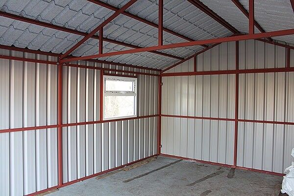 Steel Double Door Garage Many Sizes Available! Very Strong Construction!  Best Prices £157 Per M2