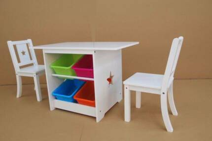 Kids Tables And Chairs Set With Storage Tubs   Delivered