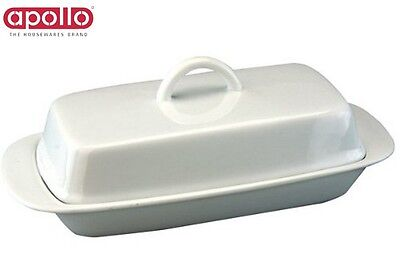 Apollo Butter Dish With Handlewhite Serveware Storage Kitchen Home New