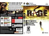 Brand New Rage PC game,dvd, New Rage Anarchy PC game,DVD 3 disk's, manual&case.(.No Product cd key
