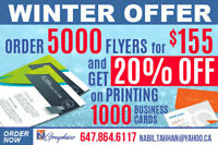 Printing & Design (5000 Flyers for $155) (Toronto)