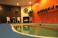 15 piscine privé dans votre chalets et 14 spa prive dans 30 chal
