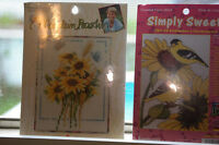 Tournesol Point de croix, GoldFinches Cross Stitch