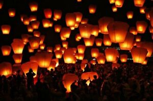 Sky flying paper lanterns Downtown-West End Greater Vancouver Area image 3