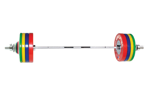 Olympic barbell set and 170kg rubber bumper plates, £419.99