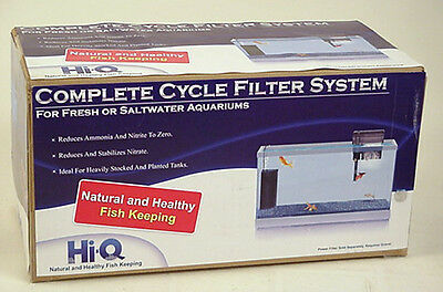 Hi-Q Fish Tank Filter System Aquarium Complete Cycle 30Gal New All Water Types