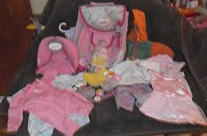 BABY BORN DOLL LOT OF OUTFITS + BACKPACKS AND ACCESSORIES Thornlie Gosnells Area Preview