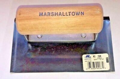 Marshalltown 156b-6 X 4 Edger-curved Ends-38r-12l-blue Steel Concrete Edger