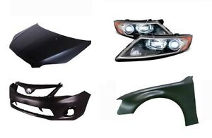 Brand New Car Body Parts Bumpers Fenders Hood Grille Mirror