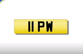11 PW private registration cherished number plate