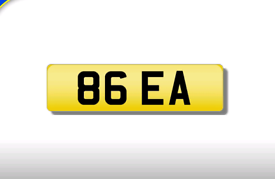 86 EA cherished number plate personalised private registration