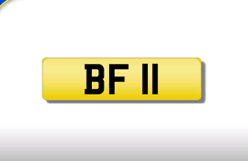 BF 11 private registration cherished number plate