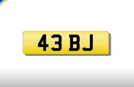 43 BJ private registration cherished number plate