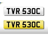 private Personal Cherished Number Plate new to market, never been issued, on retention TVR 530C