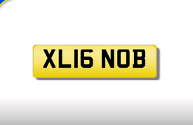 XL16 NOB cherished number plate personalised private registration