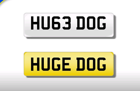 HU63 DOG private registration cherished number plate