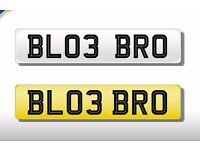 Private Number Plate BL03 BRO