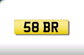 58 BR private registration cherished number plate