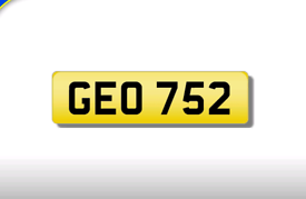 GEO 752 private registration cherished number plate