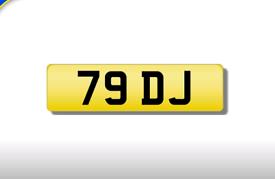 79 DJ private registration cherished number plate
