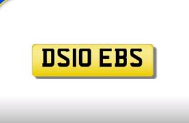DS10 EBS Debs private registration cherished number plate
