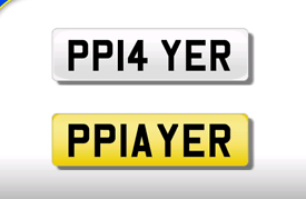 PP14 YER cherished number plate personalised private registration
