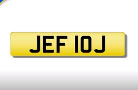 JEF 10J cherished number plate personalised private registration