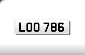 LOO 786 private registration cherished number plate