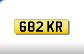 682 KR cherished number plate personalised private registration