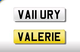 VA11 URY cherished number plate personalised private registration