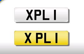XPL 1 private registration cherished number plate