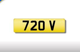 720 V cherished number plate personalised private registration