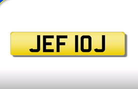 JEF 10J cherished number plate personalised private registration