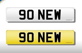 90 NEW Registration number on retention certificate. DVLA transfer fee paid.