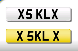 X5 KLX KL private registration cherished number plate