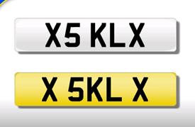 X5 KLX KL private registration cherished number plate