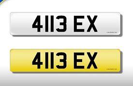 41BEX? 4113 EX Registration number on retention certificate. DVLA transfer fee paid.