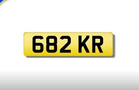 682 KR private registration cherished number plate