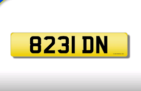 8231 DN private registration cherished number plate