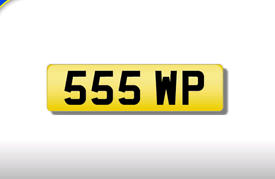 555 WP cherished number plate personalised private registration