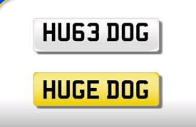 HU63 DOG private registration cherished number plate