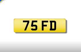 75 FD private registration cherished number plate