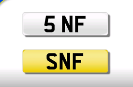 5 NF cherished number plate personalised private registration