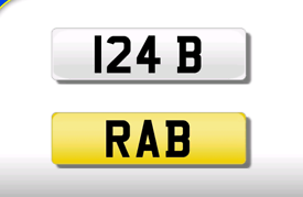 124 B private registration cherished number plate