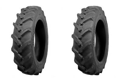 Two Atf Brand 6-14 Traction R-1 Lug Tractor Tires Tubes 6 Ply Rated