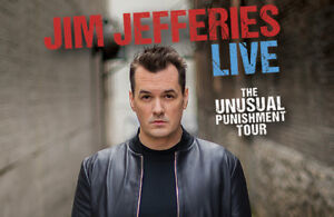 2 Jim Jefferies Tix for May 19th at 7:00pm Hamilton Place $100ea