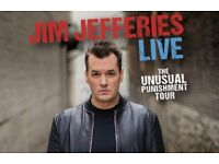 2 x Jim Jefferies Tickets. Sunday 21st January. Clyde Auditorium